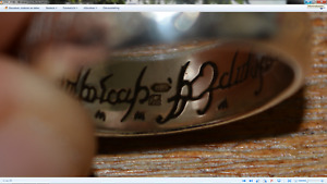 Lord of the rings the one ring weddingband wedding band solid white gold 18K