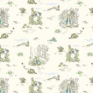 Beatrix Potter Peter Rabbit Outdoor Adventures Digitally Printed Cotton Fab BTY