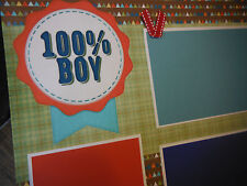100% BOY Poem Friends Two 12x12 Premade Scrapbook Pages 4 Family Son