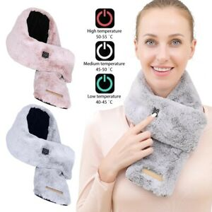 Unisex Winter Electric Heated Scarf Warming Wrap Neck Portable USB Soft Outdoor