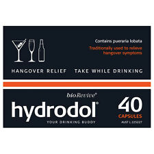 Hydrodol  Hangover Relief  Value Pack 40 Capsules -  Drinking Alcohol Supplement
