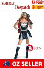 PVC Faux Leather Super Hero The Terminator Woman Costume Fancy Dress Halloween