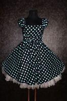 NEU Gr 54 56 58 Damen ROCKABILLY 50er Petticoat TANZ KLEID Pin Up Party Vintage