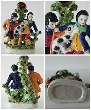 Murder of Thomas Smith Ceramic Figurine Spill Vase Staffordshire  Stunning Glaze