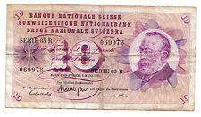 Svizzera  10 franchi  1973  MB/BB  Bad/F pick 45S   rif 2562