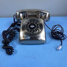 Retro Chrome Push Button Telephone Vintage Style