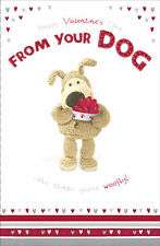 Boofle Valentine's Card From Your Dog Cute Valentine's Day Cards