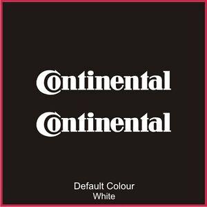 Continental Decals x2, Vinyl, Sticker, Graphics,Car, Brakes, Racing, N2070