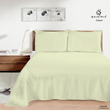 Luxury QAISIRIA 100% Cotton&Poly Flat BED Sheet Single Double King&Pillow Covers