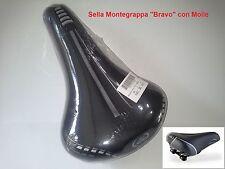 Sella Montegrappa Bravo col. Nero + molle per bici 20-24-26-28 Tipo Single Speed