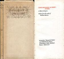 The Defense of Guenevere (Guinevere, King Arthur) William Morris 1896