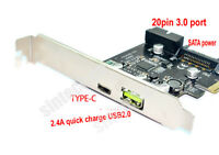 SINTECH PCI-e to USB 3.1 Type-c +USB Fast Charger 2A +19PIN USB 3.0 adapter card