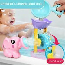 1 Set Fun Bath Toy Shower Spray +Water Waterwheel Bathtub For Bathroom Kid B4Z8
