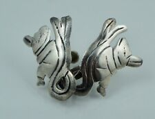 Sitting Silver Vintage Silver Screwback Los Ballesteros Sterling Mexico Earrings