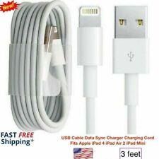 USB Cable Data Sync Charger Charging Cord Fits Apple iPad 4 iPad Air 2 iPad Mini