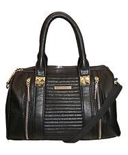 Rampage Convertible Quilted Satchel Purse Bag Handbag Black MSRP $78