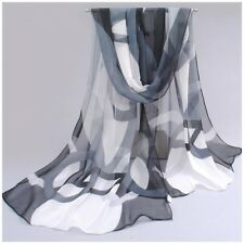 destockage foulard écharpe neuf 100% mousseline de soie ronds blancs et noirs