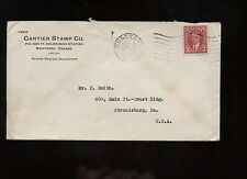 Canada Advertising Cover (Stamp Dealer) 1938 Montreal to Stroudsburg, Pa
