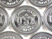 """1 Gram .999 Fine Silver Solid Bullion, Art-Bar: """" USA """""""