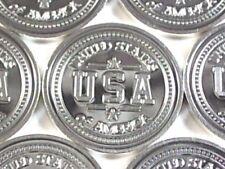 "1 Gram .999 Fine Solid Silver Art-Bar/Mini Round Coin, (New, Mint):  "" U.S.A """