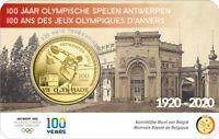 Coincard 2,5 Euros Commémorative Belgique 2020 - Jeux Olympiques Anvers
