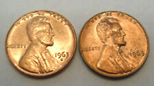 1963 P & D Lincoln Cent / Penny Set   *AU OR BETTER*   *FREE SHIPPING*