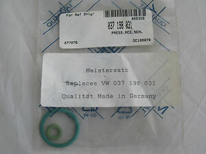MEISTERSATZ FUEL INJECTION PRESSURE REGULATOR SEAL. AUDI VW 92-06 (#037 198 031)