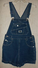 WOMENS / JUNIORS RVT CLOTHING CO. DISTRESSED BLUE JEAN ROMPER / SHORTALL  SIZE M