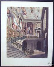 "W. H. Pyne: ""Grand Stair Case, Hampton Court"" 1819"