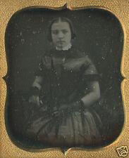 DAGUERREOTYPE AMERICAN BEAUTY 6th BARE ARMS GIRL VICTORIAN HAIRSTYLE FOLK ART LK