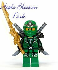 NEW Lego Ninjago GREEN NINJA MINIFIG - Lloyd ZX Minifigure w/Dragon Sword -9450
