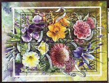 NUEVA ZELANDA 2001 JARDÍN FLORES HOJA NUEVO SIN MONTAR
