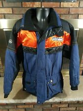 Vintage Ski-Doo Racing Snowmobile Snow Winter Black Coat Jacket Mens Size Large
