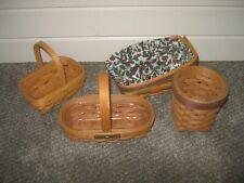 4 Small Longaberger Baskets