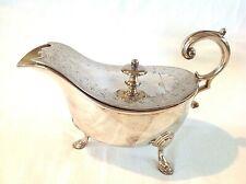 Antique silver plate sauce boat C1870 by Richard Hodd of Hatton Garden London