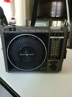 Vintage General Electric FM AM 8 Track Music System Model # 3-5507C Portable!