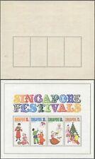 Singapore Festivals - Miniature Sheet - MNH Stamps D117