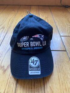 *NEW* Philadelphia Eagles Super Bowl LII 52 Dueling Logo's 47' Clean up Hat