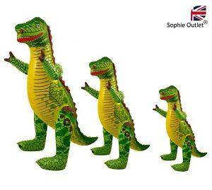 S / M / L INFLATABLE DINOSAUR Blow Up T-Rex Toy Dino Party Decor Kids Animal UK