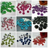 100PCS Nice plastic round sunflowers Appliques/Wedding decoration Jewelry /craft