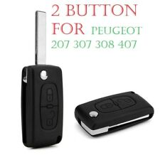 For Peugeot 207 307 308 407 2 Button Replacement Flip Key Fob Cover Case