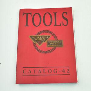1938 Millers Falls Tool Catalog # 42 Goodell Pratt 70th Anniversary 1999 Reprint