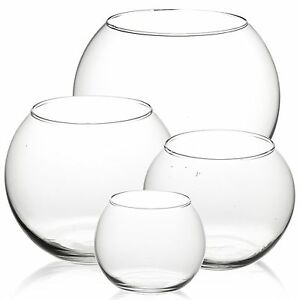 Decorative Round Glass Flower Vase Fish Bowl Balloon Centerpiece Wedding NEW