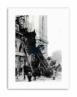 BLACK WHITE TRAIN WRECK MONTPARNASSE 1895 CRASH DISASTER FR NEW Poster Picture