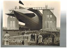 German Dirigible Zeppelin Airship Military Dock Construction Photo Print