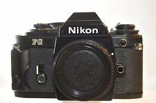 Nikon FG Black FILM SLR camera NICE FULLY WORKING TESTED Serviced NEW SEALS