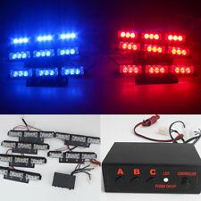 Red and Blue 6X9LED Emergency Strobe Bars Police Warning Blinking Flashing Light