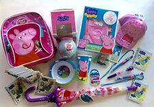 stock cartoleria articoli regalo PEPPA PIG penne zaino card berretto ombrello