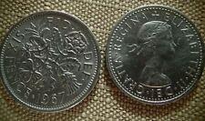 """1967 UK - Great Britain *Wedding Sixpence - """"Something Old Something New"""""""