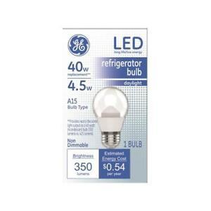 Ge Lighting LED Appliance Bulb, A15 Shape, Daylight, 350 Lumens, 4.5-Watts
